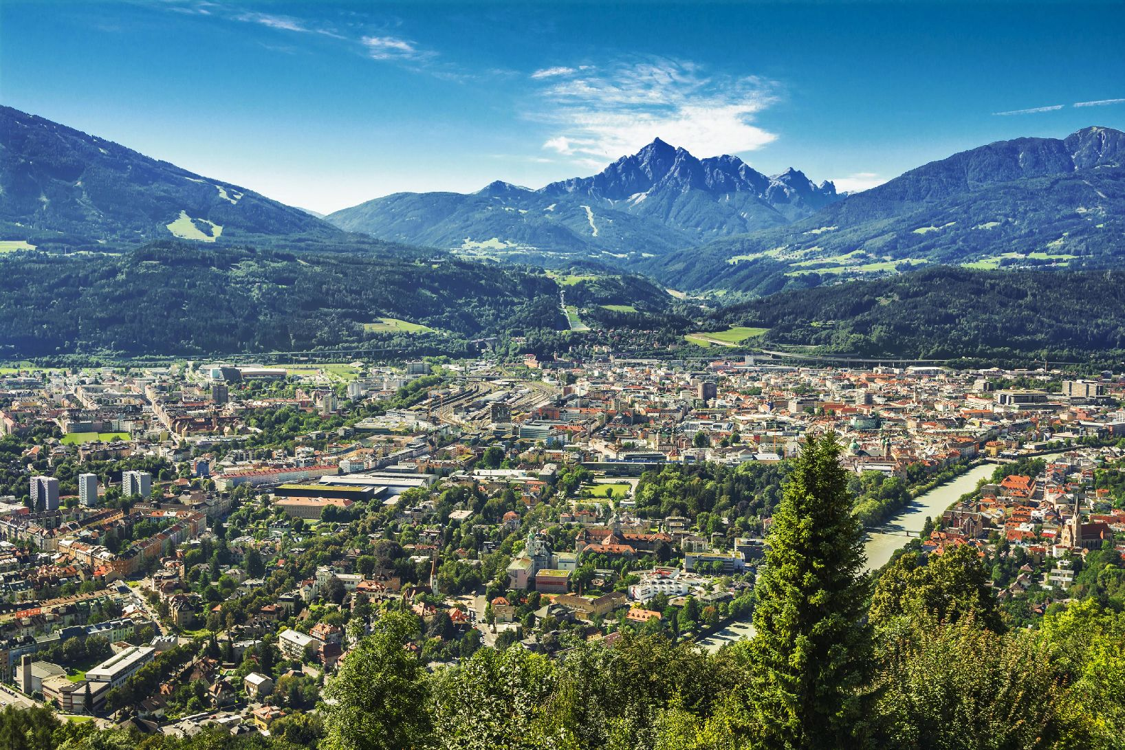 View of the city of Innsbruck