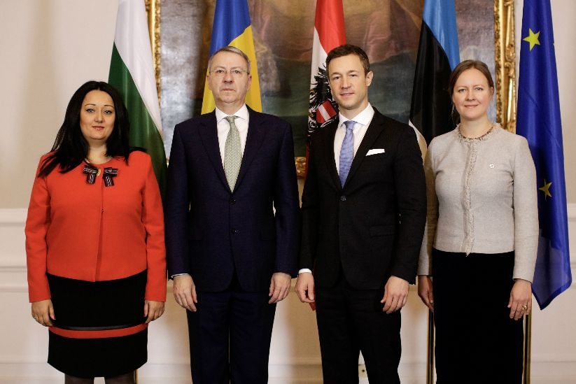 Meeting of EU Minister Gernot Blümel and the Estonian, Bulgarian and Romanian EU Presidencies